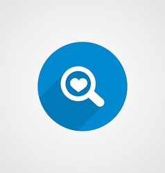 Flat Blue Search Heart vector