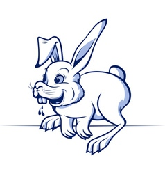 Funny cartoon rabbit vector