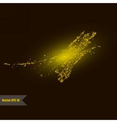 Golden glitter universe vector image