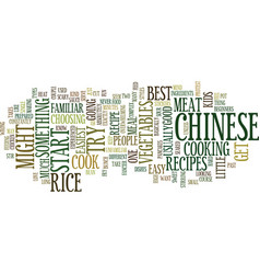 Good chinese recipes for beginners text vector