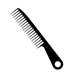 Hair comb for styling and combing - flat vector
