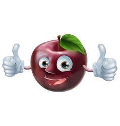 Happy apple man vector