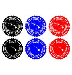 Hawaii rubber stamp vector