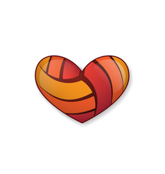 Heart volleyball object vector