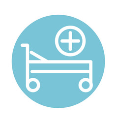 Hospital bed equipment medical and health care vector