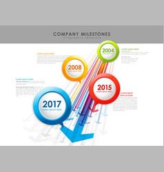 infographic company milestones timeline template vector image