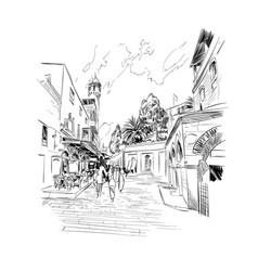 israel streets of jerusalem vector image