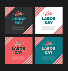 Labor day sale banners vector