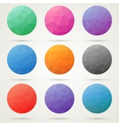 Low poly circles vector image