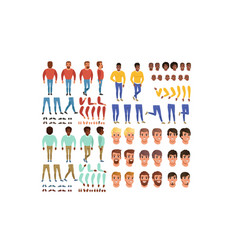 male characters creation set guy constructor vector image