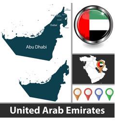 Map united arab emirates vector