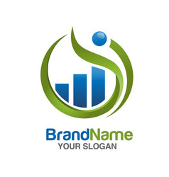marketing and finance logo vector image