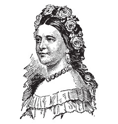 Mary todd lincoln vintage vector