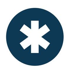 medical cross caduceus icon vector image