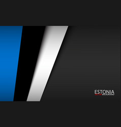 modern background with estonian colors vector image