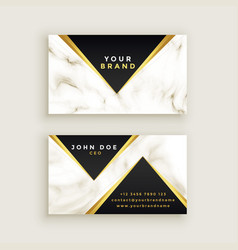 modern premium marble business card design vector image
