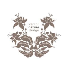 Nature emblem art deco design floral pattern vector