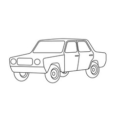 old carcar single icon in outline style vector image