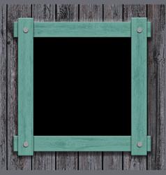 Old wooden frame on vintage background vector
