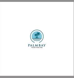 palm island logo template design vector image