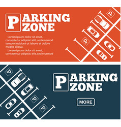 parking zone flyers in minimalist style vector image