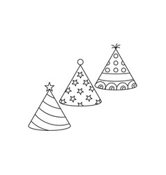 party hat icons vector image