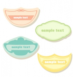 pastel labels vector image
