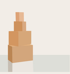 pile of cardboard boxes ready to be shipped vector image