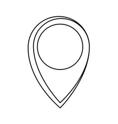 pin location symbol vector image