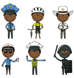 Police men vector image
