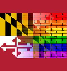 Rainbow wall maryland vector