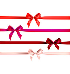 red ribbons decor vector image