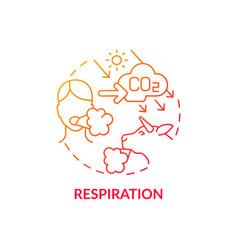 Respiration concept icon vector