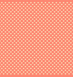 retro seamless pattern with pink hearts vector image