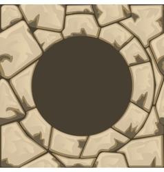 Round stone frame vector