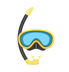 Scuba mask and snorkel vector
