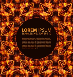 seamless orange glowing ethnic pattern vector image
