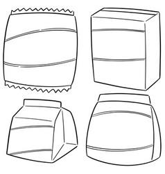 Set snack vector
