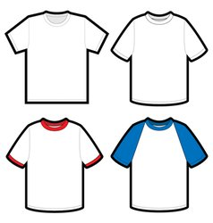 shirts template vector image