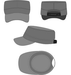 Short brim cadet cap template vector