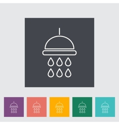 Shower vector image