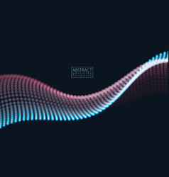 sound wave particles flow effect in motion vector image