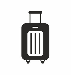 Suitcase on wheels vector