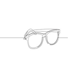 sunglasses continuous line graphic vector image