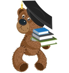 Teddy bear holding a books vector image