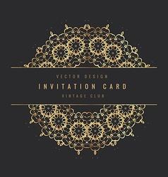 vintage invitation floral card vector image