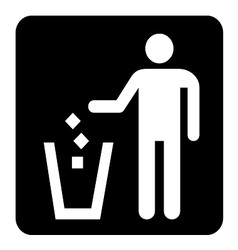 Waste Sign vector