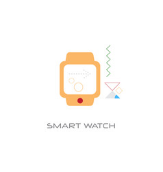 wearable tech smart watch electronic device vector image