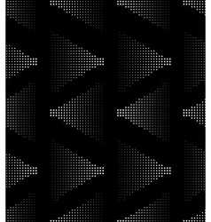 White on black seamlesss pattern vector image vector image