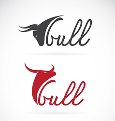 Design bull is text vector